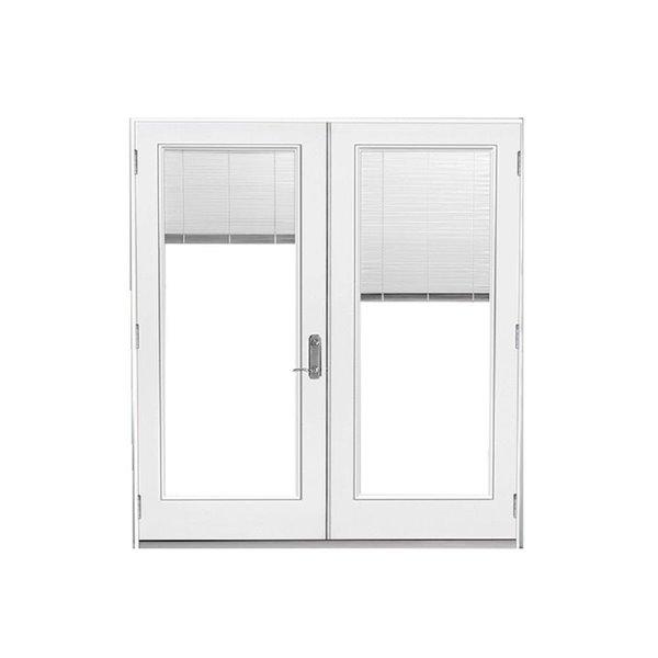 60 in x 80 in blinds between the glass primed steel left hand inswing french patio door