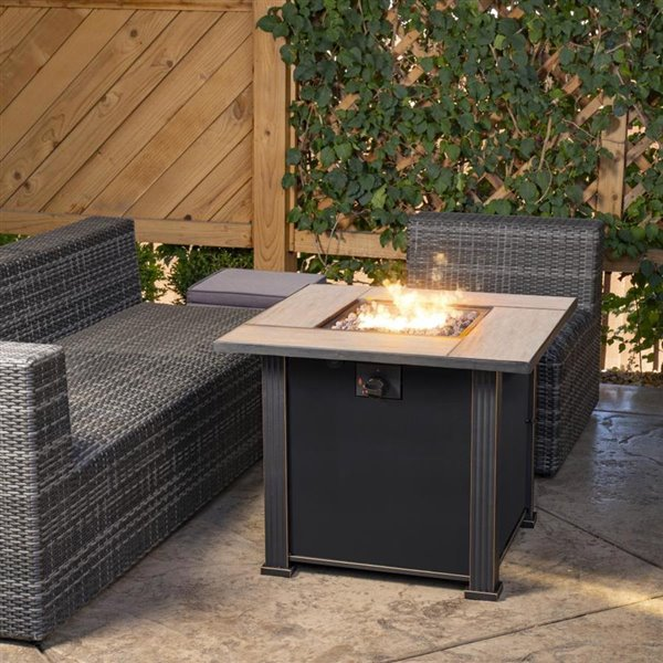 Bond Propane Outdoor Fireplace 50 000 Btu 30 In X 30 In Brown Lowe S Canada