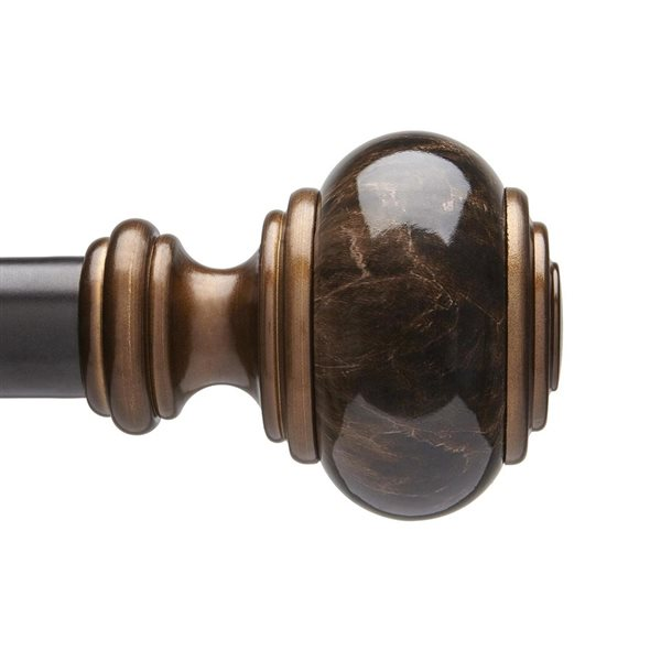 umbra a r 72 in to 144 in bronze steel double curtain rod