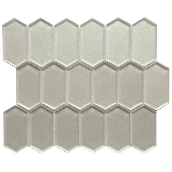 bestview silver glossy honeycomb mosaic glass wall tile common 12 in x 10 in actual 11 73 in x 10 16 in