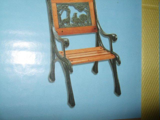 childs cast iron patio chair new in box