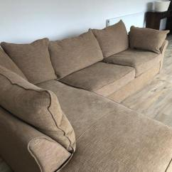 Duck Feather Corner Sofa Poundex 3pc Sectional Set Chaise Longue Second Hand Household Furniture Buy And Sell In The Collins Hayes Rh Brown Grey Colour Heavy Filled Cushions Good Condition Dimensions 200cm Long X 95cm Depth