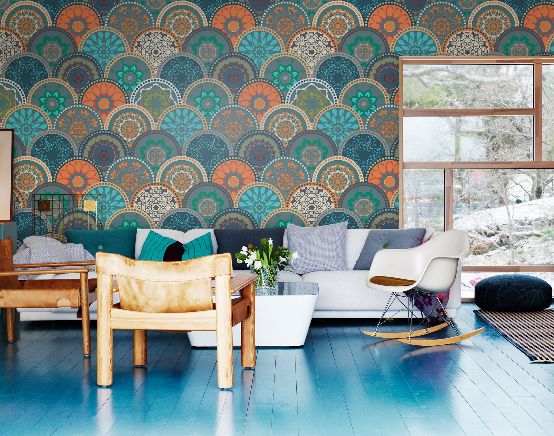 11 statement wall murals perfect for every home  Completehome