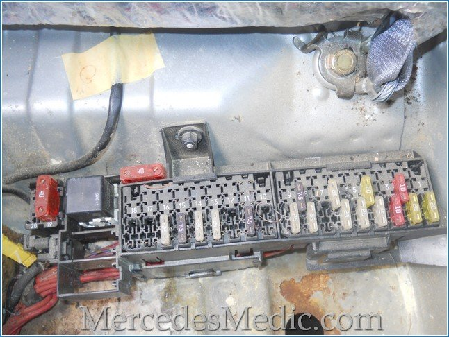 1996 Mercedes 400 E Front Fuse Box Diagram