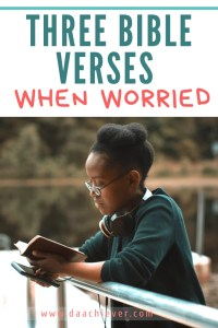 3 bible veres for the worried