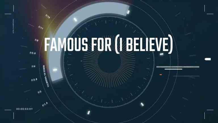 FAMOUS FOR (I BELIEVE)- TAUREN WELLS