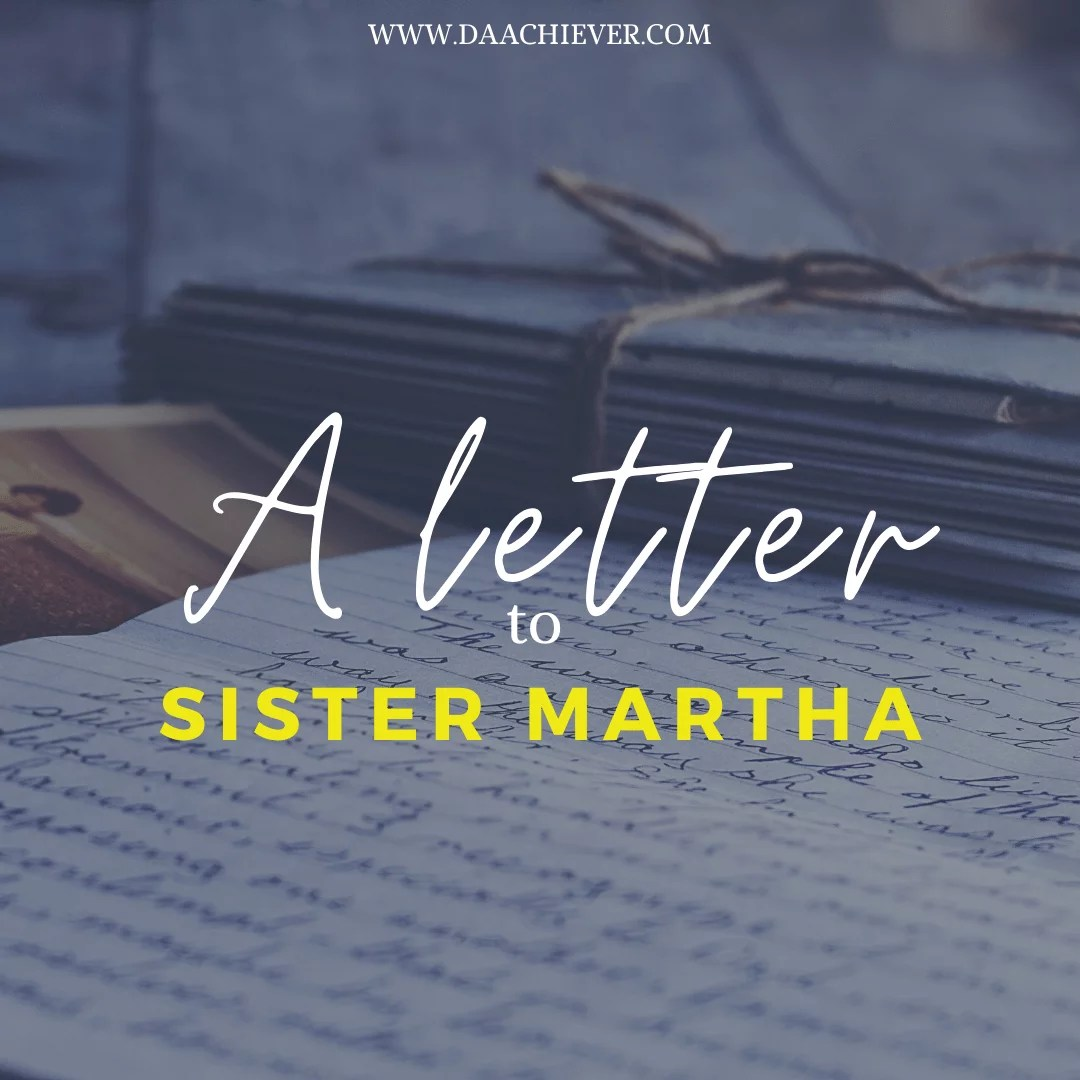 A Letter to Sister Martha