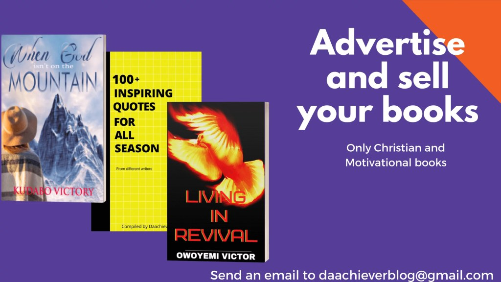 Advertise and sell your books with Daachiever Blog