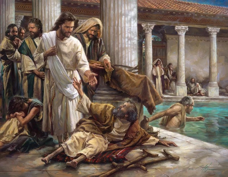 At the pool of Bethesda- A Bible story