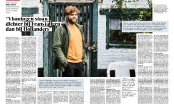 Interview double page dans la Gazet Van Antwerpen