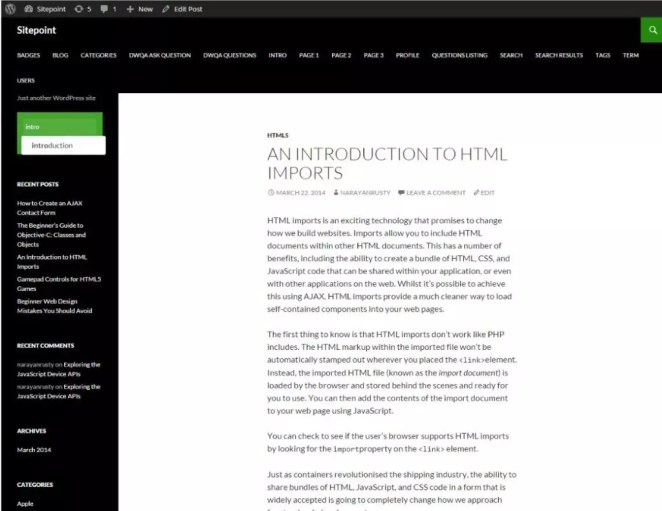 Example of Solr WordPress 1