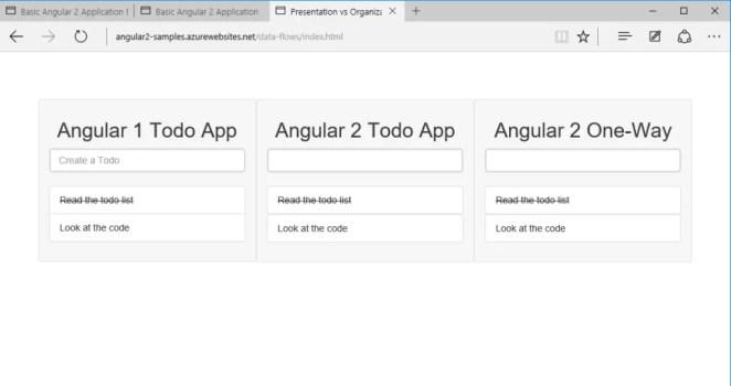 Simple basic Todo app in Angular 1 and Angular 2