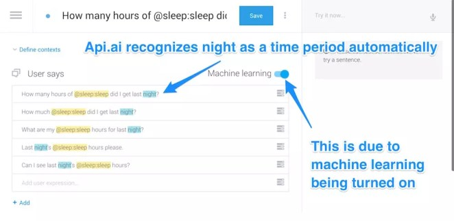 Machine learning time period recognition