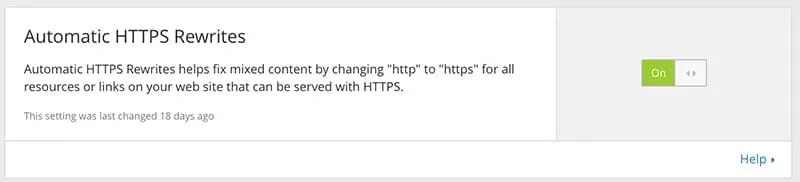 Automatic HTTPS Rewrites