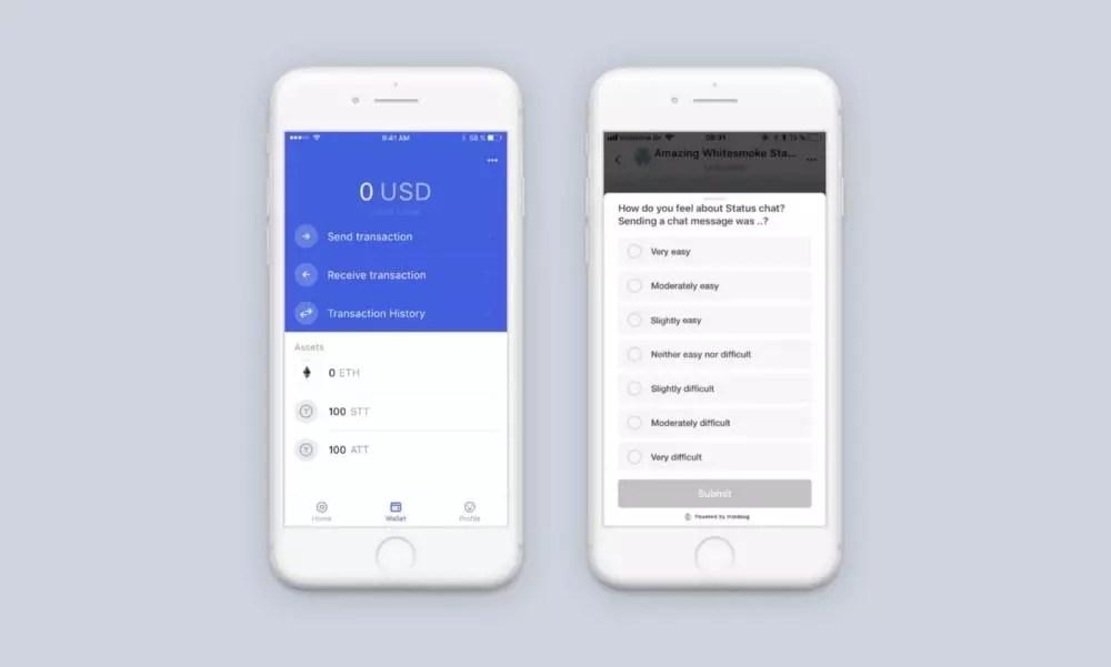 Une capture d'écran du statut sur un téléphone mobile