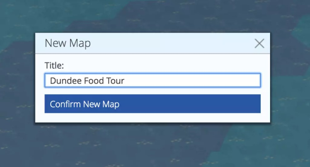 Specifying the map's title