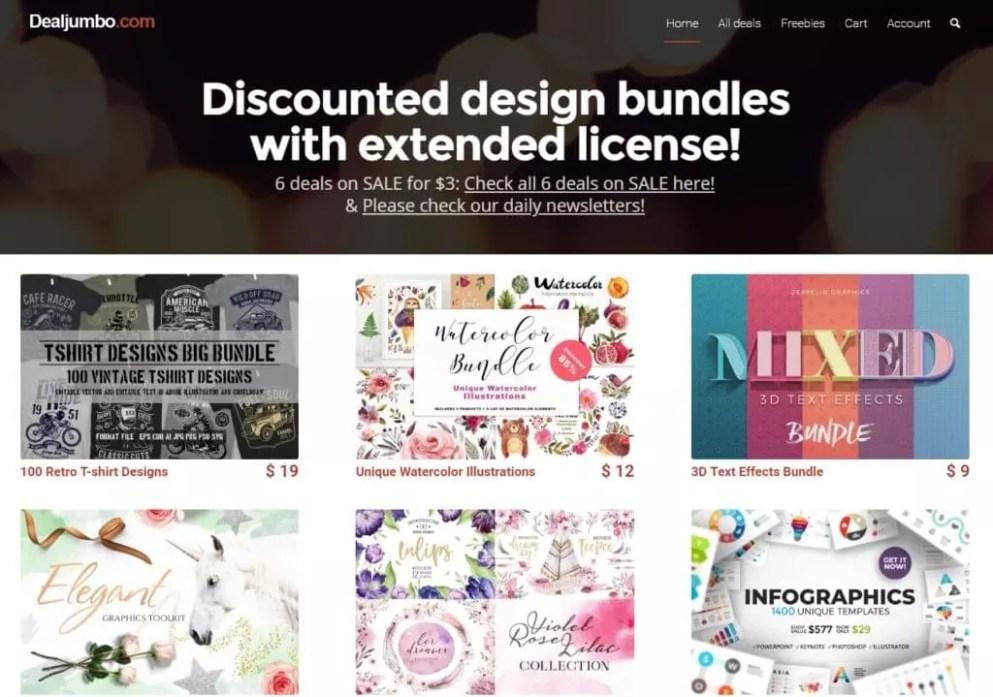 DealJumbo - Discounted Design Bundles