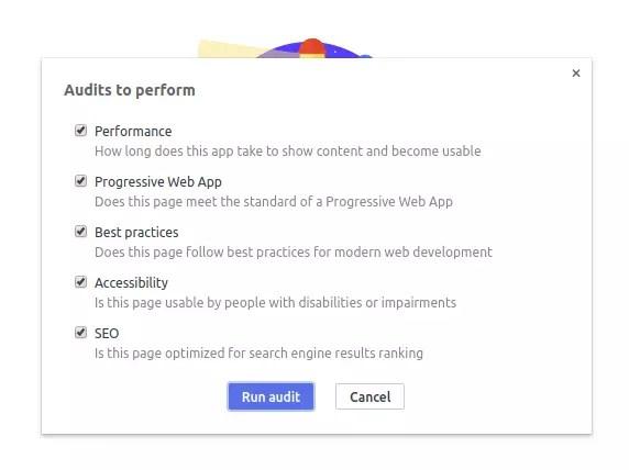 Chrome audits