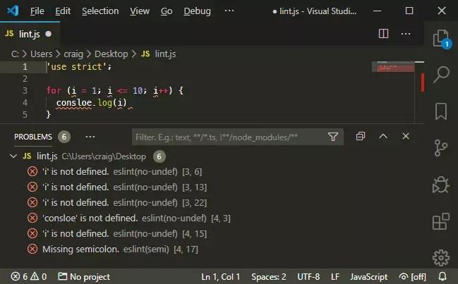 ESLint for VS Code