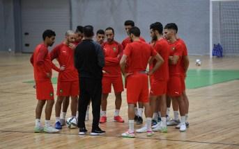 المنتخب الوطني لكرة القدم داخل القاعة ينهي استعداداته للقاء تايلاند
