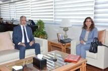 وزيرة الانتقال الطاقي والتنمية المستدامة ليلى بنعلي خلال تسلم السلط من سلفها عزيز الرباح