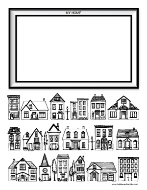 coloring pages of houses # 21