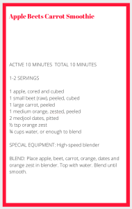 Red Smoothie Recipe Card