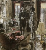 Robert Fawcett was a colour blind artist who overcome his problem to create these beautiful illustrations. Some of the work for the Sherlock Holmes novels was amazing- so much is going on in these images but there's lots of hidden gems for the eye.