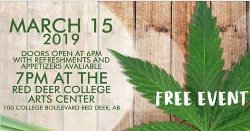 Red Deer College Psychology Society cannabis fundraising symposium