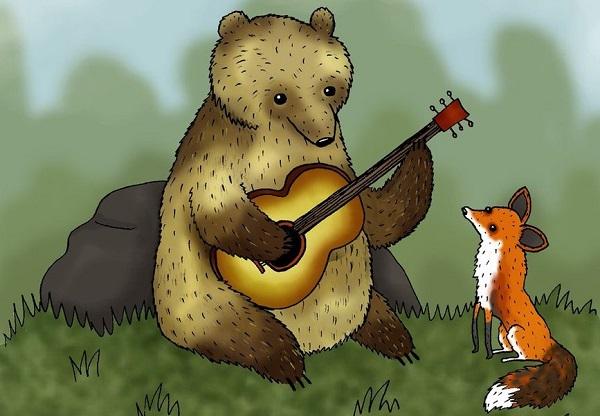 bear fox
