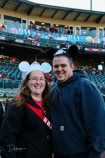 Britney and Shawn get a surprise bridal party party at the Iron Pigs game on Saturday April 9, 2017. Photo by DAVE DABOUR