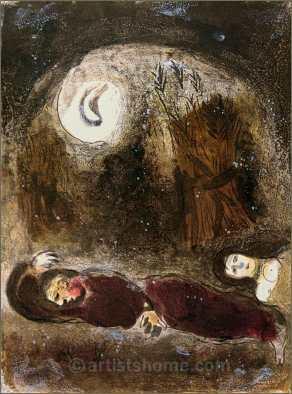 Ruth at Boaz's Feet