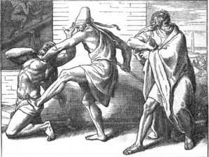 Moses kills Egyptian