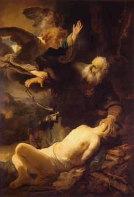 "Rembrandt (1609-1669), Sacrifice of Isaac"" (1635)"