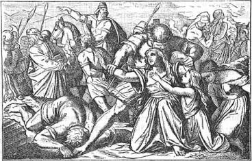 """""""Zedekiah and the People Carried Captive"""" (1873)"""