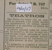 1909_10_24 Sagi Barba zarzuela chico