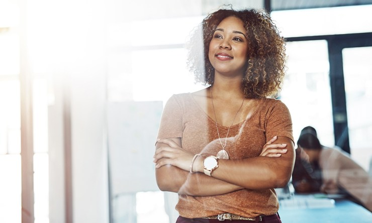 digital marketing insights woman thinking