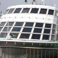 土曜日にこの船で横浜湾をミニクルーズした