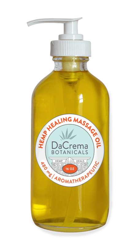 Dacrema Botanicals 16oz Hemp Healing Massage Oil