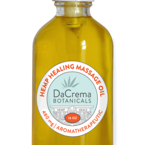 Dacrema Botanicals 16oz Hemp Healing Massage Oil