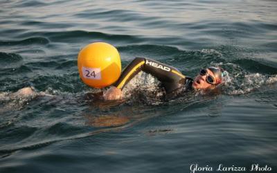 Davide Sona: la Traversata a nuoto del Lago di Garda