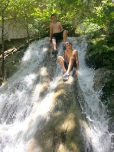 Waterfall climbers