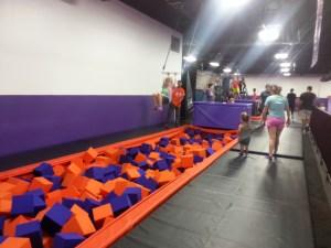 Foam Pit Trapeze