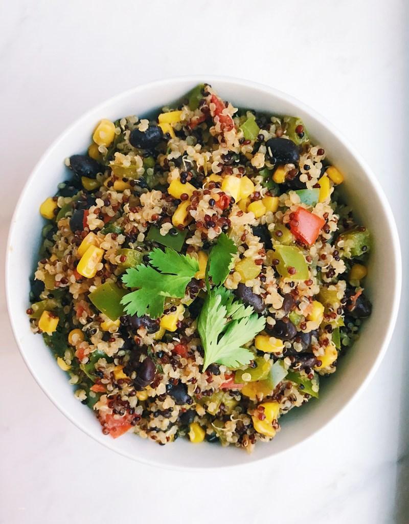 Southwest Quinoa Bowl (Gluten-Free, Vegan)