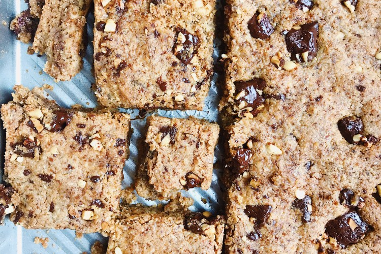 Chocolate Chunk Peanut Butter Bars (Vegan, Gluten-Free, Grain-Free)