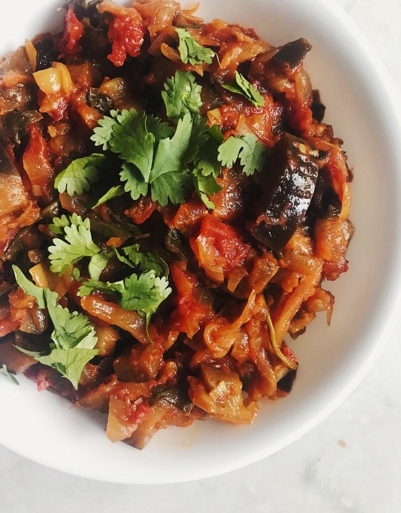 Healthy Baingan Bharta (Spiced Eggplant Masala)