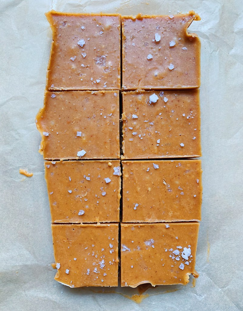 Salted Peanut Butter Freezer Fudge (Vegan, Gluten-Free, Refined Sugar-Free)