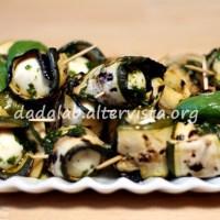 Involtini grigliati al profumo di basilico