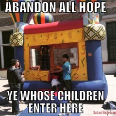 Is there anything more enticing to kids than a bouncy house? Is there anything more nerve-wracking for parents than a bouncy house?