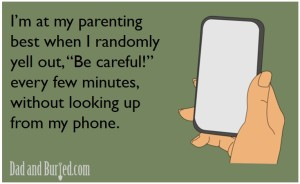 parenting best, it takes a village, twitter, e-card, toddlers, parenting, parenthood, lifestyle, family, home, moms, dads, kids, iphone, technology, texting, funny, dad blogger, e-card, dad and buried